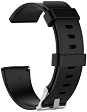 Markacase Fitbit Versa Silikon Kordon Kayış Siyah (S)