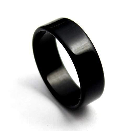 オニキス ブラックオニキス リング 指輪 天然石 レディース メンズ 平打ち (19)