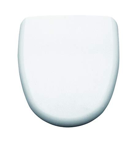 Gala G5128201 Tapa y Asiento Fijo para Inodoro Colección Loa, Acabado Blanco (Ref 51282), 38 x 4.3 x 45.2 cm