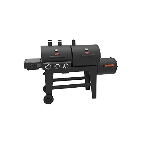 Char-Griller 93560 Triple Play 3-Burner Gas, Charcoal Grill and Horizontal Smoker in Black Smokers