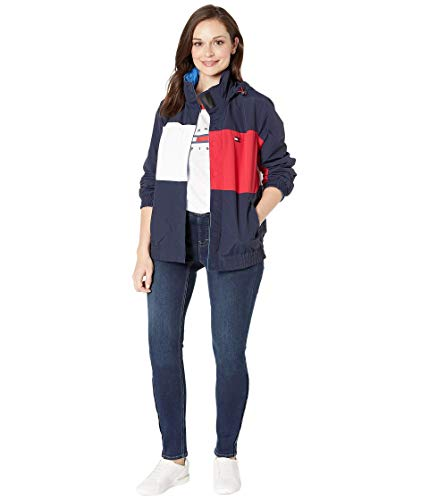 Tommy Hilfiger Damen ADP W Kitana REV Jacket Jacke, Masters Navy/Multi, Medium