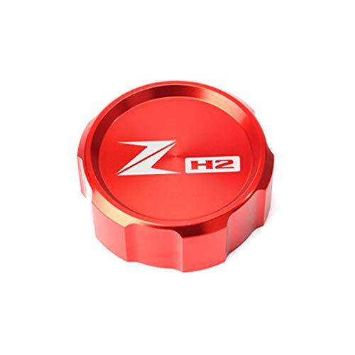 GZWO / Fit for - Kawasaki/Fit for - ZH2 2019-2020 / Motorrad Vorne Bremsflüssigkeitsbehälter Abdeckkappe (Color : Red)