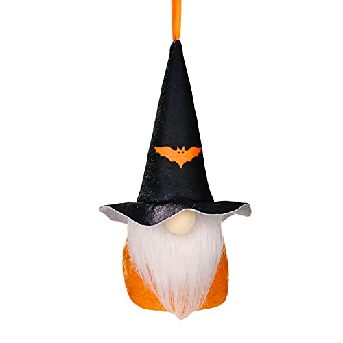 Mueca decorativa de Halloween, gnomo, hecha a mano, de peluche, gnomo, gnomo, mueca decorativa, decoracin