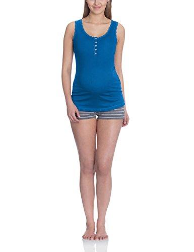 bellybutton Damen LISSIA - Top Schlafanzugoberteil, Blau (Ink Blue 40850), X-Small (Herstellergröße: XS)