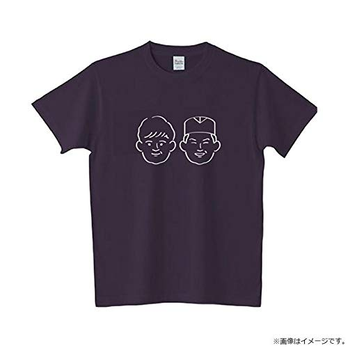あちこちオードリー Tシャツ (黒)Lサイズ 佐久間さんイラスト入り