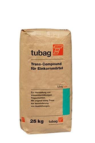 tubag TCE Trass-Compound fü Einkornmörtel 25 kg/ Sack (nur mit Basaltsplitt mischen!)