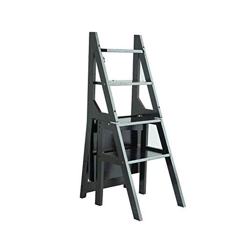ASDAD Vouwstoel 4 Stap Ladder Kruk Bamboe Houten Draagbare Voetenbank/Bloem Rack/Verander Schoen/Opslag Plank/voor Bibliotheek Keuken Kantoor