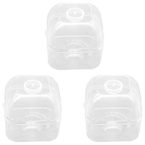 Dan&Dre Storage Box, 3 Piece Pacifier Case Holder Pacifier Storage Box Transparent Dustproof for Use at Home and While Traveling