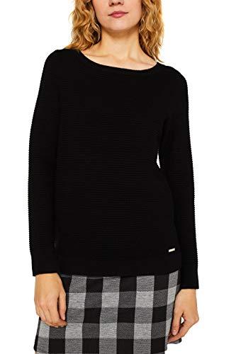 ESPRIT Damen 999Ee1I809 Pullover, Schwarz (Black 001), Herstellergröße: XX-Large