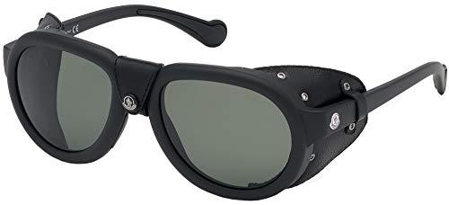 Moncler Gafas de Sol ML0090 MATTE BLACK/GREEN 55/20/140 unisex