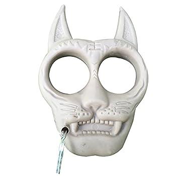 TAKE FANS Porte-clés portable en plastique en forme de tigre - Accessoire de survie pour l'extérieur (gris)