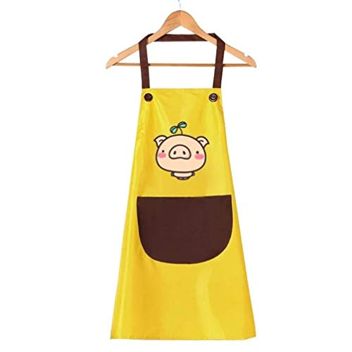 Tablier De Cuisine pour Tablier De Cuisine pour Tablier De Cuisine pour Femmes À La Maison Tablier De Cuisine sans Manches (65CM X 75CM)