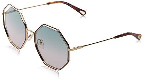 Chloé Ce132s Montures de lunettes, Vert (Havana/Green Rose), 58 Femme