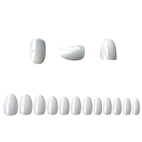 VIVID TELLA 短い爪ネイル ネイルチップ 12サイズ ショート デコレーション 偽のネイルチップ 無地 付け爪 自然な色