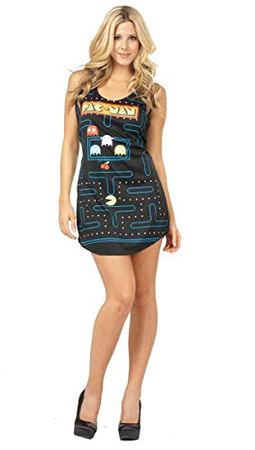 You'll look a-maze-ing in this Ladies Pac Man Video Game Screen Costume Tank Dress