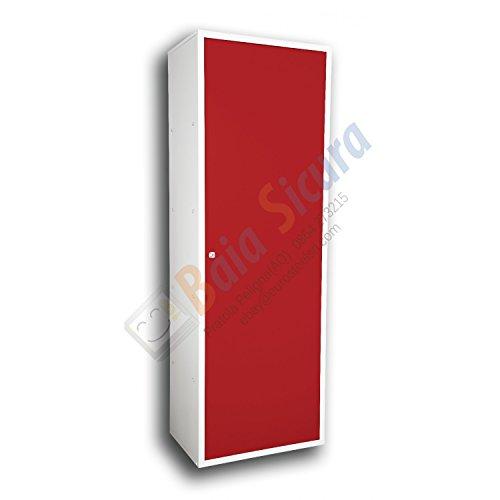 Baia Sicura Armadio Spogliatoio Sporco Pulito175 x 50 x 40 Multiuso Porta Rossa