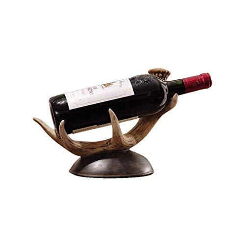 Portabottiglie per Vino Portabottiglie per Vino Creativo Antler Portabottiglie Decorazione Cucina di casa Ristorante Resina Armadietto per Vino Espositore da appoggio Armadio Canti