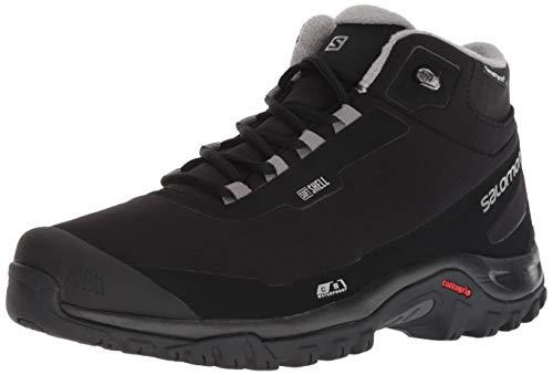 Salomon Men's Shelter CSWP Snow Boots, Black/Black/Frost Gray, 11.5