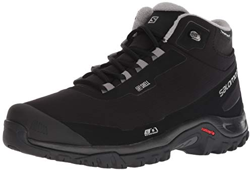 Salomon Men's Shelter CSWP Snow Boots, Black/Black/Frost Gray, 11.5