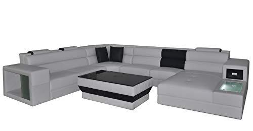 JVmoebel Ecke Leder Modern XXL Couch Wohnlandschaft Ledersofa Sofa U-Form B2006