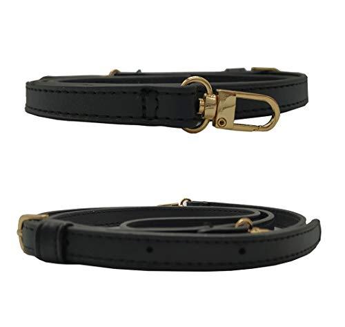 Careror - Tracolla di ricambio regolabile in pelle, con ganci girevoli in metallo, per borsa a tracolla, per borsetta, larghezza: 2 cm Narrow Gold