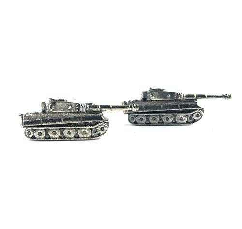 Panzer Tank Cufflinks, Handmade in England from Fine English Pewter. Gift Boxed