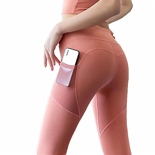 YUDIZWS Leggings Deporte Mujer Cintura Alta Deportivos Elásticos Yoga Fitness Leggins con Bolsillos para Running Y Transpirables (Color : H, Size : XX-Large)
