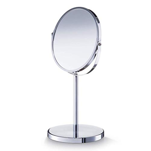 Zeller 18410 - Specchio verticale, ø 17 cm, ø 15 x 35 cm, colore: Cromato