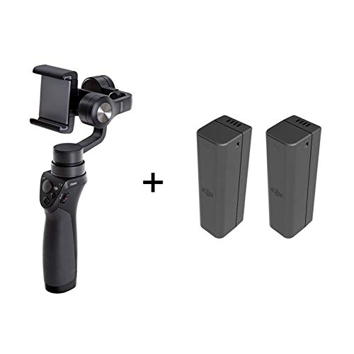DJI Osmo Mobile 1 Gimbal - Bildstabilisator für iPhone und Smartphone, Unterstützung für Smartphone, Zubehör für Foto- und Videoaufnahmen, 3 Achsen (kardanisch), 3 Batterien