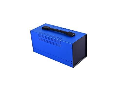 Carcasa de hierro Carcasa de metal con asa azul Carcasa vacía Caja eléctrica de plástico Caja de mano Universal Metal Case Bahar Enclosure