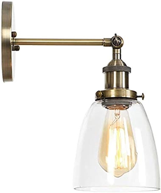 Retro Led Kreative Einzelne Kopf Wandleuchte Gang Glaswand Lampe Cyan Farbe
