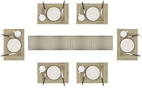 Eageroo Set di 6 tovagliette 30 x 45 cm Tovagliette Lavabili Tovaglietta Antiscivolo per Il Tavolo...