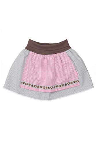 P.Eisenherz Baby - Mädchen Baby Trachten-Rock mit Schürze grau rosa, ROSA, 86/92