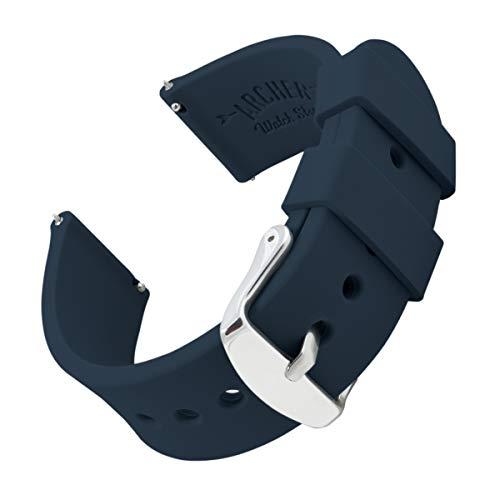 Archer Watch Straps - Uhrenarmbänder aus Silikon mit Schnellverschluss - Mitternachtsblau, 24mm