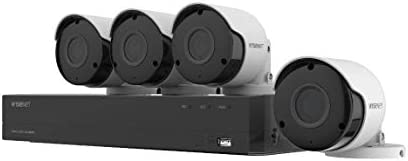 Wisenet SDH B84045BF 8 Channel Super HD DVR Video Security System with 1TB Hard Drive and 4 product image