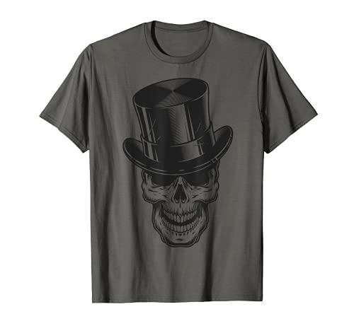 NXT-LVL.INK T-Shirt Totenkopf mit Zylinder Tattoo