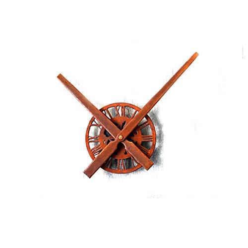 QXbecky Vintage Antiguo óxido DIY Reloj número Romano Reloj de Pared Concha Movimiento Creativo nostálgico Grandes gráficos de Pared Accesorios