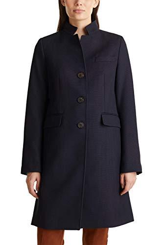 ESPRIT Damen 010EE1G302 Mantel, Blau (Navy 400), X-Large (Herstellergröße: XL)