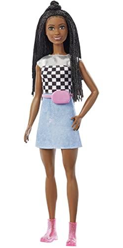 Barbie Dreamhouse Adventures Brooklyn Muñeca afroamericana con ropa y accesorios de moda de juguete, regalo para niñas y niños +3 años (Mattel GXT04)