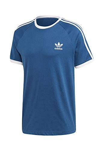 Adidas 3 Stripes T-Shirt (L, Marine)