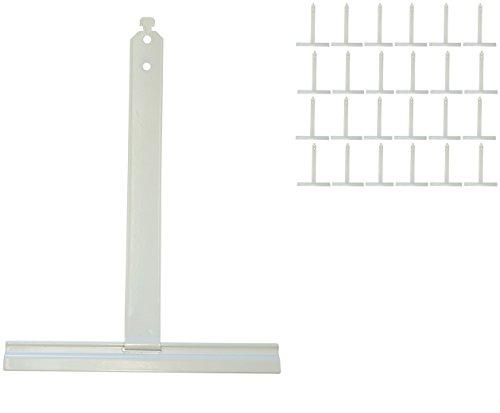 20x Alu Aufhängefedern für MAXI Rollladen, Sicherungsfeder, Aufhängeleiste,