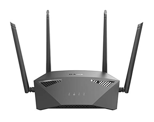 D-Link WiFi Router AC1900 Mesh Internet Network, Smart Home MU-MIMO Dual Band Gigabit Gaming Wireless High Speed (DIR-1950-US) Black