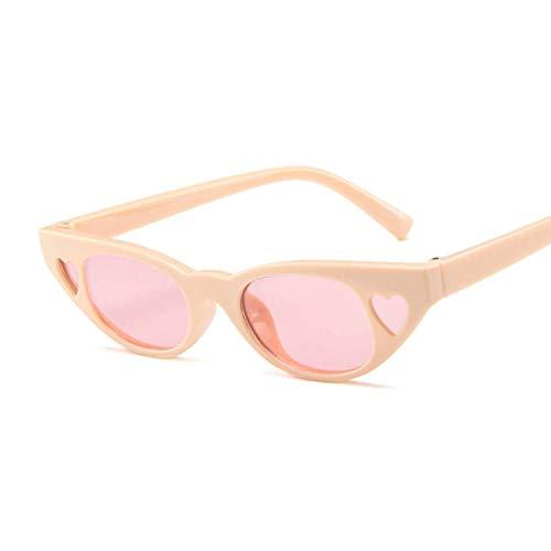 DLSM Gafas de Sol de Mujer Gafas de Ojos Gafas de Sol Gafas de Sol Retro Coloridas Lentes de Dos Tonos adecuados para la Pesca, equitación, Playa de Golf-Lente Rosa