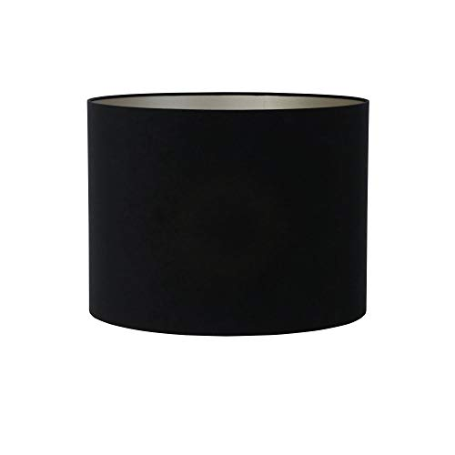 Light & Living lampenkap cilinder 40-40-30 cm Velours zwart-taupe voor woonkamer eetkamer slaapkamer enz.