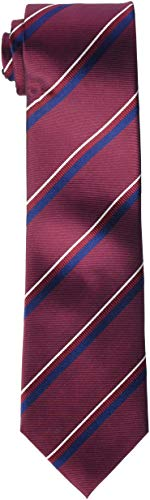Hackett London City Stripe Corbata, Rojo (Wine 490), Talla única para Hombre