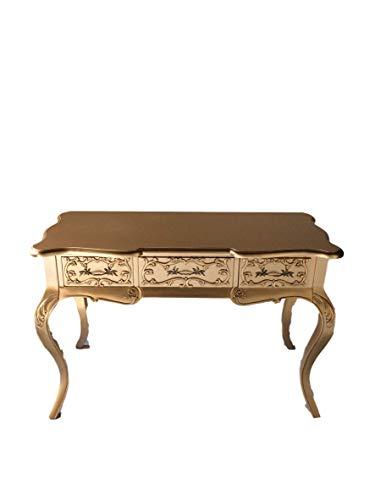 Kunibert Barock Louis Seize Renaissance Rokoko Sekretär Farbe:Gold Schreibtisch Schminktisch Länge122xHöhe79xBreite51cm Nr.4