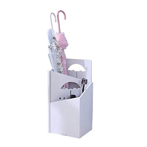 XUSHEN-HU Umbrella Stands Blanco paragüero for Barritas de caña con Papelera, 21 25 52 cm, for el Corredor Ministerio del Interior Casa