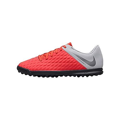 Nike JR Hypervenom 3 Club TF, Zapatillas de fútbol Sala Unisex niño, Multicolor (Lt Crimson/Mtlc Dark Grey-Wolf Grey 600), 38 EU