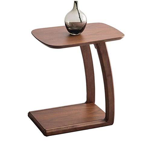 Mesa auxiliar con patas curvadas, sofá en forma de U Mesa de centro, mesa de centro, madera maciza de primera calidad, mesitas extraíbles, mesitas de noche, muebles de decoración ( Color : Walnut )