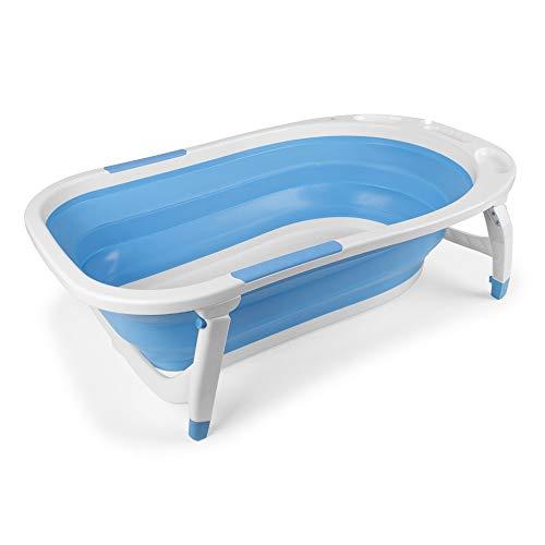 INTERBABY -Bañera Bebé Plegable Azul